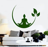 Yoga Meditation Vinyl Wall Stickers Buddha Wall Decal Design Removable Wall Deco