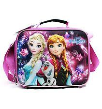New Disney Frozen Elsa-Olaf-Anna Black Insulated Lunch Bag