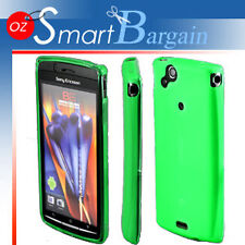 GREEN Soft Gel Case For SONY ERICSSON XPERIA ARC X12