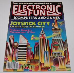 Rivista videogiochi - ELECTRONIC FUN white COMPUTER and GAMES - NOVEMBRE 1983