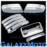 14-15 GMC Sierra 1500 Chrome Mirror+4 Door Handle+Tailgate w/KeyHole Only Cover