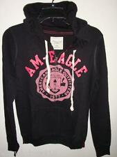 NWT Women American Eagle AE SIGNATURE HOODIE BLACK S