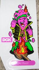 "DGK Purple Haze Logo Skate Sticker 3.5 X 2"" skateboards helmets decal diamond"