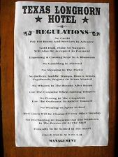 """(563) OLD WEST HOTEL TEXAS LONGHORN HOUSE RULES NOVELTY MAN CAVE POSTER 11""""x17"""""""