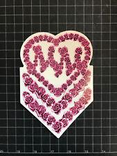 Metal Mulisha Rose Chevron Sticker Pink 6 Inch