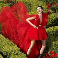 giambattista valli x hm red dress size 34/us 2