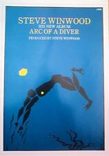 STEVE WINWOOD Arc Of A Diver LARGE magazine POSTER size :16x11 inches