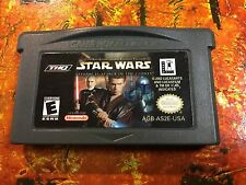 Star Wars II Attack of Clones Gameboy Advance GBA CLEANED Authentic GAME BOY
