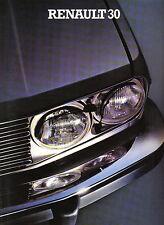 RENAULT 30 TS TX 1979-80 ORIGINALE UK Opuscolo Vendite sul mercato NO. 29.115.07