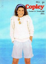 Lady Sweater Taille 76-101 cm 30-40 in Copley 624 VINTAGE KNITTING PATTERN