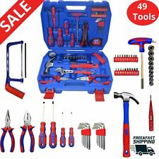 Tool Set screwdrivers wrench hammer Tools Kit Box Home Workshop Case Household