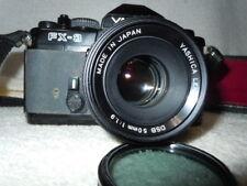 Yashica FX-3 SLR CAMERA 50mm Lens+ Vivitar Auto Thyristor 2800 PLUS  80-200mm ZO