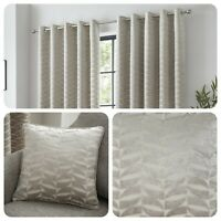 Curtina KENDAL Natural Jacquard Eyelet Curtains & Cushions