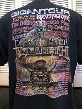 Megadeth Gigantour Tour Shirt Sz XL  Slayer Metallica Metal Exodus Suicidal SOD