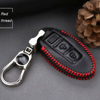 For Nissan Sunny 2 buttons smart remote key case holder cover fob Red thread