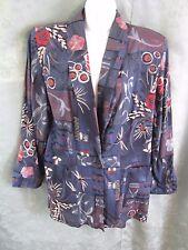 80's Kensington Square Boyfriend Blazer Size Medium Patchwork Floral Print