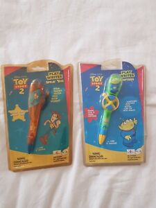 2 pens of TOY STORY 2 - PLAY WRITES WOODY & ALIEN NEW