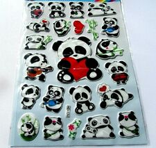 20 sheets Large Panda Stickers -Nurser or for Kids birthday Party Goodies Bags