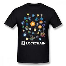 Blockchain Bitcoin Litecoin Ripple Ethereum size S-3XL US 100% cotton