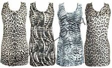 Women's Animal Print Sleeveless Vest Cami Tops & Shirts
