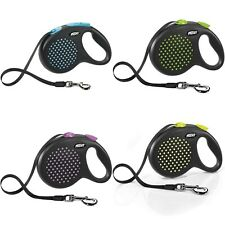 Flexi Design Heavy Duty Dog Puppy Retractable Tape Lead 5m Extendable Leash