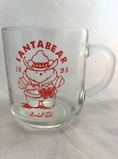 1995 Marshall Field & Co Department Store Adv Santa Bear In Cowboy Hat Glass Mug
