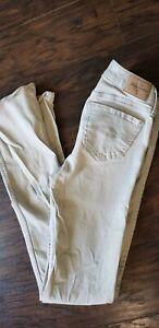 Abercrombie girls Kids Super Skinny Tan Jeans Slim Pants Size 16