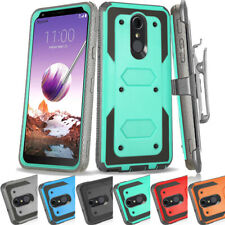Shockproof Holster Belt Clip Armor Heavy Duty Stand Tough Cover Case For LG