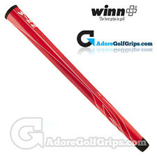 Winn 15 Inch Long Pistol Counterbalance Putter Grip - Red / White + Free Tape