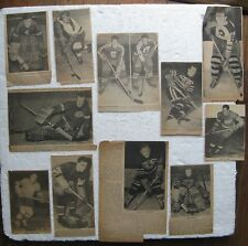 10 Hockey Pictures Clipped from 1930's-1950's Newspapers