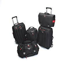 OEM GM 2014-2017 Corvette C7 5 Piece Luggage Set Black with Logo by Chevrolet