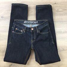Aeropostale Bowery Slim Straight Size 28 Men's Jeans Actual W27 L30.5 Hem (BT3)
