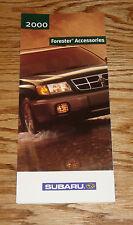 Original 2000 Subaru Forester Accessories Foldout S Brochure 00