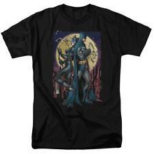 Batman & Catwoman t-shirt retro DC comics black cotton graphic tee BM2258