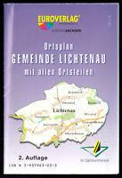Stadtplan, Ortsplan der Gemeinde Lichtenau mit allen Ortsteilen, 2002