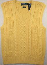 NWT $145 Polo Ralph Lauren LARGE L Cashmere Blend Cable Knit Sweater Vest