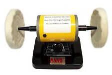 "RAND BENCH POLISHER / BUFFER- Polishing/Buffing Machine 4-1/4"" diameter jewelry"