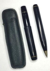 Schreibset KAWECO-Sport Kugelschreiber 619,  Füllfederhalter V12 M, Etui grün