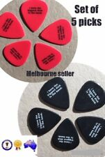 FUNNY QUOTE Nylon Black 1mm Red 0.6mm Guitar Pick Biggest In The Band Set of 5
