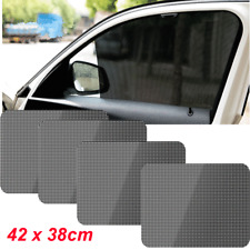 4PCS Reusable Static Plastic Backing Car Sun Shade Covers Rise&Drop with Window