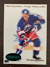 1992-93 Parkhurst Emerald Ice #500 Teemu Selanne - Winnipeg Jets - Rare SP