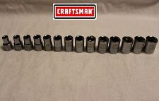"NEW Craftsman 14 pc 1/2"" Drive 6 pt Metric Socket Set (mm) LASER ETCHED"