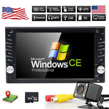 "Car DVD CD Player 6.2"" 2DIN In Dash GPS Navigation+Map+BT+Radio Stereo+Camera"