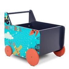 Andador bebe madera carrito infantil con espacio almacenaje para juguetes