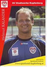 FOOTBALL carte joueur HELMUT KALANDER équipe SV STADTWERKE KAPFENBERG signée