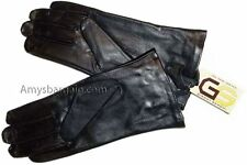 Woman's Adorable Leather Winter Gloves worm Leather Gloves Guantes De piel BNWT