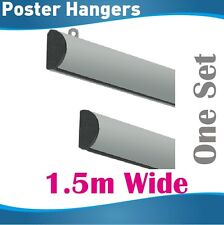 1.5m Poster Hangers Gripper Poster hanging rail hanging rails