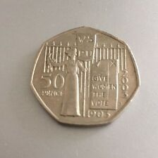 50p Royal Mint 2003 Give Women The Vote. Suffragette  - Circulated 50 pence coin