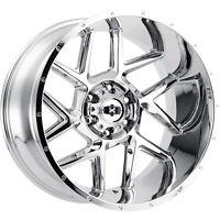 20x12 Chrome Wheel Vision Sliver 360 5x5 -51