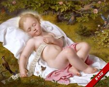 SLEEPING CHRIST CHILD THE LAMB OF GOD PAINTING JESUS CHRISTIAN ART CANVAS PRINT
